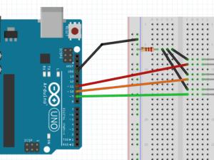 Programmer et trafikklys med Arduino